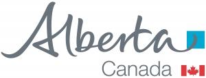 Alberta Canada Blue Flag Logo